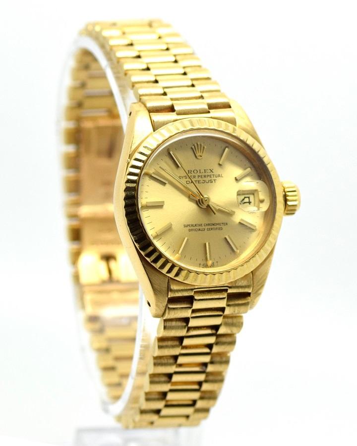 rolex datejust 6917 18k solid gold watches of sutton